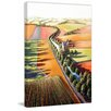 Marmont Hill 'Chateau by the River' by Mica Art Print on Wrapped Canvas