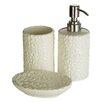Castleton Home Magnolia Dolomite 3 Piece Bathroom Accessory Set