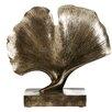 Castleton Home Complements Leaf on Base Polyresin Sculpture