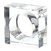 Now's Home Diamond Crystal Glass Napkin Ring (Set of 4)