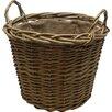 Castleton Home Round Wild Willow Lined Log Basket