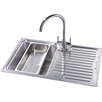 Belfry Kitchen 80cm x 50cm Compact Single Bowl and Drainer Left Hand Main Bowl Kitchen Sink