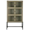 Woood Showcase Glass 6 Doors Metal Display Cabinet