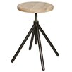 Woood Lily Metal Stool with Wooden Top