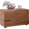 Woodlive 2 Drawer Bedside Table