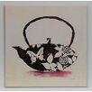 Wildon Home Fine Art 'Flowered Teapot' Painting Print on Paper