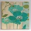 Wildon Home Flowers Fine Art 'Modern Blue Poppy' Painting Print on Paper