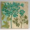 Wildon Home Flowers Fine Art 'Modern Agapanthus' Painting Print on Paper