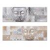 Burkina Home Decor Buddha 2 Piece Art Print on Canvas Set