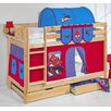 Just Kids Belle Spiderman European Single Bunk Bed with Storage
