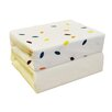 HoneyBee Nursery Floating Leaves Cot Bed Jersey 2-Piece Fitted Cot Sheet Set