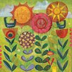 Art Group 'Full Bloom' by Helen Hallows Print on Canvas