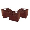 Red Barrel Studio Scenic Wicker Storage Basket (Set of 3)
