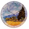"House Additions Oversized 60"" Van Gogh Cypress Trees Wall Clock"