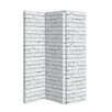 Arthouse 150cm x 120cm Brick 3 Panel Room Divider