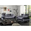 Home Loft Concept Chicago 3 Seater Sofa and Loveseat Set
