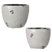 Lily Manor Pagano 2 Piece Plant Pot Set