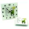 Hokku Designs 5 Piece Glass Clock and Coaster Set