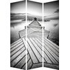 Hazelwood Home 180cm x 120cm Calm Jetty Partition 3 Panel Room Divider