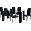All Home Wendover Dining Set with 6 Chairs