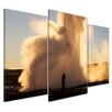Bilderdepot24 Geyser 3-Piece Photographic Print Set on Canvas