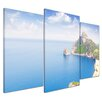 Bilderdepot24 Formentor Cape to Pollensa Aerial Sea View in Mallorca 3-Piece Photographic Print Set on Canvas