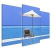 Bilderdepot24 Desert Island in Indian Ocean 3 Piece Photographic Print on Canvas Set