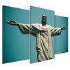 Bilderdepot24 Jesus Christ the Redeemer 3-Piece Photographic Print on Canvas Set