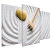Bilderdepot24 Zen Stones 3-Piece Photographic Print on Canvas Set