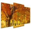 Bilderdepot24 Autumn Scene 3-Piece Photographic Print on Canvas Set