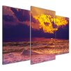 Bilderdepot24 Beach Sunset III 3-Piece Photographic Print on Canvas Set