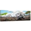 Bilderdepot24 White Tiger Framed Photographic Print on Canvas