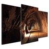 Bilderdepot24 Old Uranium Mine in Poland 3-Piece Photographic Print on Canvas Set