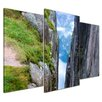 Bilderdepot24 View of Lysefjord 3 Piece Photographic Print on Canvas Set