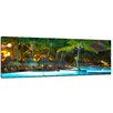 Bilderdepot24 3-tlg. Leinwandbilder-Set Swimming Pool, Fotodruck