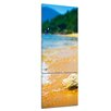 Bilderdepot24 Tropical Beach with Stone 3 Piece Photographic Print on Canvas Set