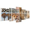 Bilderdepot24 Africa Collage I 5 Piece Photographic Print on Canvas Set