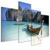 Bilderdepot24 Maya Bay, Koh Phi Phi Ley 4 Piece Photographic Print on Canvas Set
