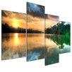 Bilderdepot24 Morning Reflection 4 Piece Photographic Print on Canvas Set
