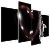Bilderdepot24 Saxophone with Heart 4 Piece Photographic Print on Canvas Set