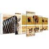 Bilderdepot24 Safari Africa 5-Piece Photographic Print on Canvas Set