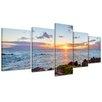 Bilderdepot24 Maui Coastline 5-Piece Photographic Print on Canvas Set