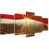 Bilderdepot24 Sunrise Mesa Arch, Canyonlands National Park 5-Piece Photographic Print on Canvas Set