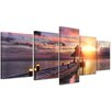 Bilderdepot24 Sunset Over Maldives 5-Piece Photographic Print on Canvas Set