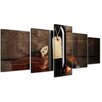 Bilderdepot24 Wine and Violin 5-Piece Photographic Print on Canvas Set