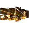 Bilderdepot24 Big Ben at Night 5-Piece Photographic Print on Canvas Set