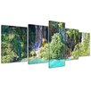 Bilderdepot24 Plitvicer Lakes I 5-Piece Photographic Print on Canvas Set