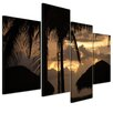 Bilderdepot24 Sunset II 4-Piece Photographic Print on Canvas Set