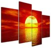 Bilderdepot24 Sunset 4-Piece Photographic Print on Canvas Set