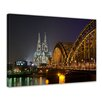 Bilderdepot24 Cologne Cathedral Framed Photographic Print on Canvas